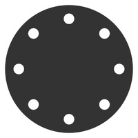 Заглушка фланцевая АТК 24.200.02-90 стальная (ст 20) Ру-6, Ду-15