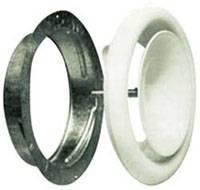 Диффузор приточный стальной D=125 с монтажным кольцом
