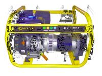 Генератор бензиновый однофазный 5 кВт, 230В, бак 6,5 л., расход 1,98 л/ч, ручной старт