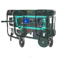 Генератор бензиновый однофазный 7 кВт, 230В, бак 25 л., расход 2.4 л/ч, электростартер