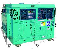 Генератор дизельный 1ф., 7 кВт, бак 13.5 л., расход 1,5 л/ч., электростартер кожух 160 кг