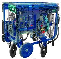 Генератор дизельный 1ф., 7 кВт, бак 13.5 л., расход 1,5 л/ч., электростартер
