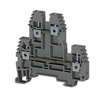 Клеммник 2-х ярусный 4мм.кв. (серый), PIK4N