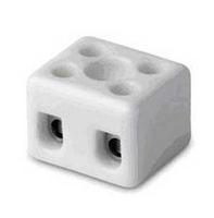 Клеммник керамический с отверстием для фиксации, 2 пол., 6-16 кв.мм