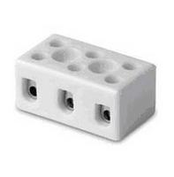 Клеммник керамический с отверстием для фиксации, 3 пол., 1-4 кв.мм