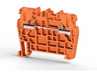 Клеммник пружинный быстрозажимной (Push in), 2,5 мм.кв. (оранжевый), PYK2,5