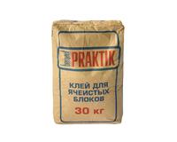 Клей для ячеистых блоков морозостойкий 30кг Bergauf Praktik 1уп=48шт