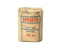 Клей для керамической плитки 30кг Bergauf Praktik 1уп=48шт