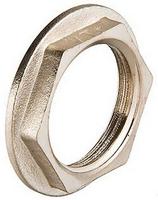 Контргайка 1/2 ВР с буртиком латунь/никель Vt655