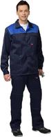 Куртка Стандарт тёмно-синий с васильковым