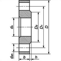 Фланец плоский стальной 1-65-16 ГОСТ 12820, Ру-16, Ду-65