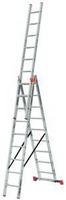 Лестница универсальная 3х10 перекладин рабочая высота 7,65 м TRIBILO