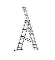 Лестница универсальная 3х14 перекладин, рабочая высота 10,9 м TRIBILO