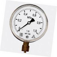 Манометр МТ-100 1,0 МПа (G1/2 дюймовая) (уп.45 шт.)