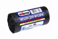 Мешки для мусора 120л, 70х110 см, ПВД, 30 мкм, черный, 10шт/рул