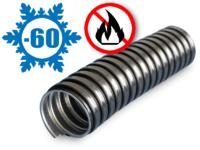 Металлорукав в ПВХ изоляции МРПИ НГ морозостойкий 20 (50 м/уп.) черный УХЛ1, t экспл -60 до +70°С, t монт до -20°С