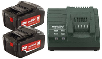 Набор 2 аккумуляторы + зарядное устройства,(2 акк 4.0Ач 18В+ЗУ ASC 30-36) Basic-Set4.0