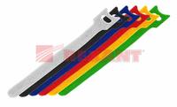 Набор хомутов липучка 210 мм, 10 шт/упак (белый, черный, зеленый, синий, желтый, красный)