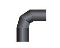 Отвод ПНД 90 сварной двухсекционный PN10 SDR17 1200*1000