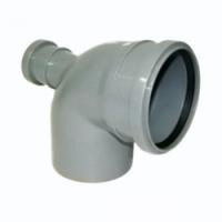 Отвод канализационный 110х50/90 фронтальный Политек (уп.35 шт.)