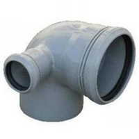 Отвод канализационный Ду 110х50/90 правый Политек (уп.40 шт.)
