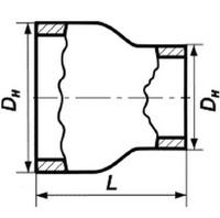 Переход 33,7х2,2-21,3х1,8 стальной концентрический ГОСТ 17378