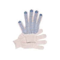 Перчатки 4 нитка х/б с ПВХ белые