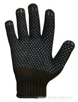 Перчатки 5 нитка х/б без ПВХ чёрные