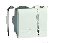 Переключатель, белый, 2 модуля