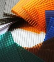 Поликарбонат сотовый 4 мм Цветной размер листа 2,1*6,0м