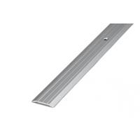 Порожек стыкоперекрывающий средний (ПС03, 1350, 01 л, серебро люкс) 1,35м*37мм