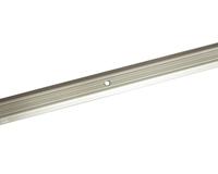 Порожек стыкоперекрывающий узкий (ПС01, 1350,01л, серебро люкс) 1,35м*25 мм