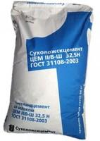 Портландцемент синий мешок ПЦ400Д20 ЦЕМ II/А-Ш32,5Б 50кг Сухой Лог 1 под 35 шт 1,75тн