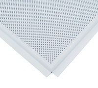 Потолочная панель алюминиевая Албес АР600 Line-E белая перфорированная d=1,5 (T-24) 600х600х0,3мм (уп=50шт=18м2)