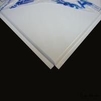 Потолочная панель алюминиевая белая Line (T-24) 600х600х0,4мм (уп=36шт=12,96м2)