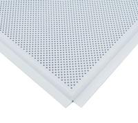 Потолочная панель алюминиевая белая перфорированная Line (T-24) 600х600х0,4мм (уп=36шт=12,96м2)