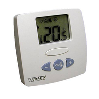 Радиотермостат комнатный электронный WFHT-20433 (на батарейках с ж/к дисплеем) Watts
