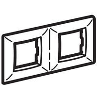 Рамка на 2+2 модуля (двухместная), белая для коробок PDD-N60