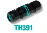 Разъем линейный 3-х контактный 2 ввода диаметр кабеля до 12 мм IP 68 TEETUBE