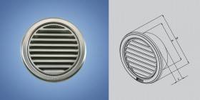 Решетка вентиляционная круглая с сеткой нержавейка D=150 мм