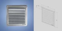 Решетка- крышка вентиляционная нержавейка 200x200 мм