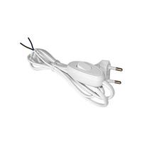 Шнур для бра с проходным выключателем белый ШВВП 2х0,75 1,7м