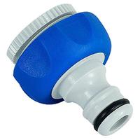 Штуцер резьбовой 12мм-19мм (1/2-3/4) внутренняя резьба, пластик, TPR GREEN APPLE
