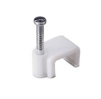 Скоба для кабеля плоская Б12 мм (50 шт) - пакет