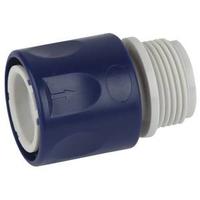 Соединитель (Коннектор) для шланга с внешней резьбой 19мм (3/4), пластик GREEN APPLE ЕСО