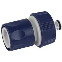 Соединитель (Коннектор) с аквастопом для шланга 19 мм (3/4), пластик (50/2) GREEN APPLE ЕСО