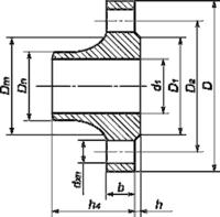 Фланец воротниковый стальной 1-100-16 ГОСТ 12821, Ру-16, Ду-100