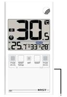 Термометр оконный в ультратонком (7мм) корпусе, дом/улица, цвет белый
