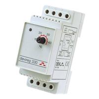Терморегулятор на DIN-рейку с датчиком 3м с регулятором (t= -10+10 C) IP20 Д-330