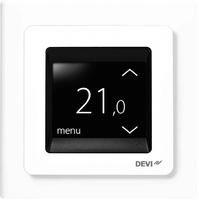 Терморегулятор встраиваемый сенсорный DEVIreg Touch,белый, (tпол=+5+45 C, tвозд.=+5+35 С) 16А